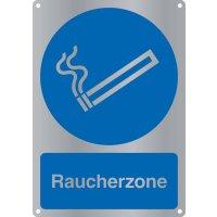 """Kombi-Gebotszeichen-Schilder """"Raucherzone"""" nach EN ISO 7010"""