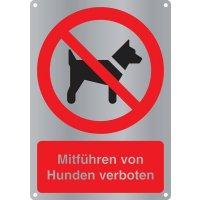 """Kombi-Verbotszeichen-Schilder """"Mitführen von Hunden verboten"""" nach EN ISO 7010"""