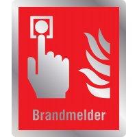 Brandmelder - Brandschutzschilder mit Symbol und Text, EN ISO 7010