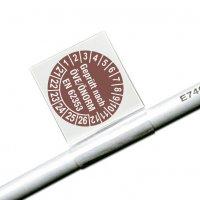 Geprüft nach ÖVE/ÖNORM EN 62353 - ÖNORM Kabelprüfplaketten aus Vinylfolie