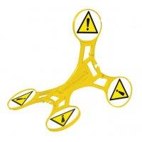 Allgemeines Warnzeichen - SETON Warnaufsteller 360 mit Warnzeichen nach EN ISO 7010