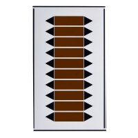 Rohrmarkierpfeile, auf Bogen, beschriftbar