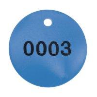 Schlüssel-/Ventilmarken aus Kunststoff, geprägt