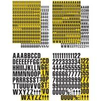 Buchstaben und Ziffern aus Magnetfolie, Zeichenkombinationen