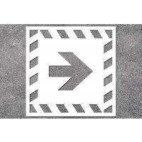 Richtungspfeil gerade - Brandschutz-Schablonen zur Boden- und Wandmarkierung