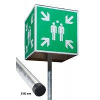 Sammelstellen-Würfel Schilder-Sets, EN ISO 7010