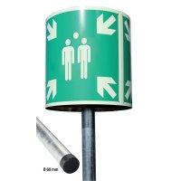 Sammelstellen-Zylinder Schilder-Sets, EN ISO 7010
