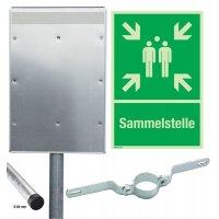 Sammelstellen - Kombischilder-Sets, EN ISO 7010