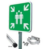 Sammelstellen Schilder-Set, profilrandverstärkt, retroreflektierend, EN ISO 7010