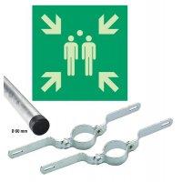 Sammelstellen Schilder-Set, EN ISO 7010