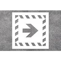 Pfeil gerade - Rettungszeichen-Schablonen zur Boden- und Wandmarkierung
