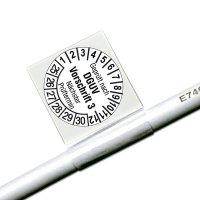 Geprüft nach DGUV V3 Nächster Prüftermin, weiß - Kabelprüfplaketten