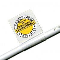 Geprüft nach VDE/Freifeld - Kabel-Prüfplaketten für die Elektrofachkraft