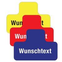 T-Stück - Bodenkennzeichnung für Palettenplätze mit Text nach Wunsch, selbstklebend