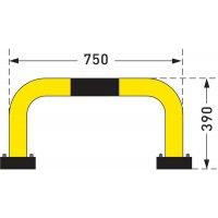 Stahl-Rammschutz-Bügel für den Innenbereich, flexibel