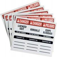 Etiketten für SafeKey-Vorhängeschlösser