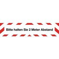 Bitte halten Sie 2 Meter Abstand - Warnmarkierungsband mit Hygienehinweis