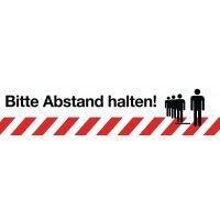 """Antirutsch-Bodenmarkierung """"Bitte Abstand halten!"""""""