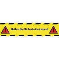 Halten Sie Sicherheitsabstand - SetonWalk Bodenmarkierung, R10 nach DIN 51130/ASR A1.5/1,2