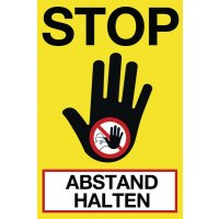 STOP ABSTAND HALTEN II - SetonWalk Bodenmarkierung, R10 nach DIN 51130/ASR A1.5/1,2