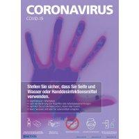 Handhygiene - Hinweisposter CORONA, selbstklebend