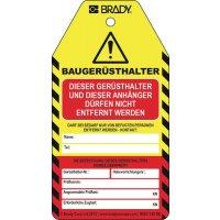 BRADY Anhänger für Prüfhinweise für Baugerüsthalter