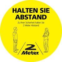 HALTEN SIE ABSTAND Zu Ihrer Sicherheit, rund - SetonWalk Bodenmarkierung, R10 nach DIN 51130/ASR A1.5/1,2