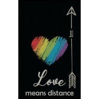 Love means distance - Fuß- und Eingangsmatten, waschbar