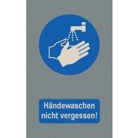 Händewaschen nicht vergessen! - Fuß- und Eingangsmatten, waschbar