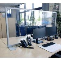 Spuckschutz Schreibtisch-Trennwand