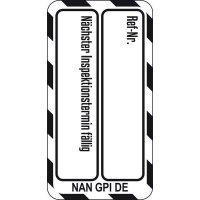 Nächster Inspektionstermin fällig - Scafftag® Nanotag Einsteckschilder