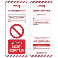 Scafftag® MK Verbots-Einsteckschilder
