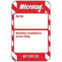 Nächster Inspektionstermin - Scafftag® Microtag Einsteckschilder