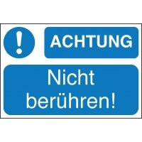 ACHTUNG! Nicht berühren! - Lockout Tagout Maschinenkennzeichnung