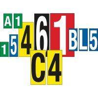 Buchstaben und Ziffern aus Kunststoff, graviert