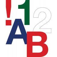 Buchstaben und Ziffern aus Folie, retroreflektierend, farbcodiert