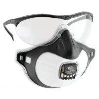 JSP® Augen- und Atemschutz mit Ausatemventil, FFP3, EN 149, EN 166, EN 170