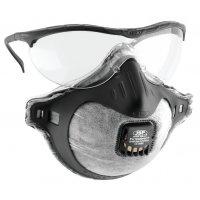 JSP® Augen- und Atemschutz mit Ausatemventil und Kohlefilter, FFP2, EN 149, EN 166, EN 170