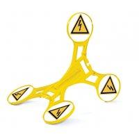 Warnung vor elektrischer Spannung - SETON Warnaufsteller 360 mit Warnzeichen nach EN ISO 7010