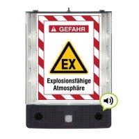 Explosionsfähige Atmosphäre - SETON Schild-Wächter, Bewegungsmelder mit Sprachausgabe & LED-Licht