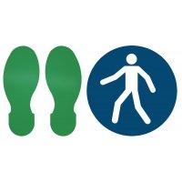 Fußgängerweg benutzen - BRADY Bodenkennzeichnung für Fußwege