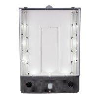 Schild-Wächter, Bewegungsmelder mit Sprachausgabe & LED-Licht, blanko