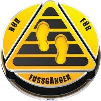 NUR FÜR FUSSGÄNGER - SetonWalk 3D-Bodenmarkierung Lager, R10 nach DIN 51130/ASR A1.5/1,2