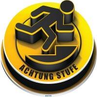 ACHTUNG STUFE - SetonWalk 3D-Bodenmarkierung Lager, R10 nach DIN 51130/ASR A1.5/1,2