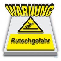 "3D-Bodenmarkierung ""Warnung Rutschgefahr"""