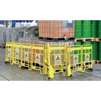 Warnung vor Hindernissen am Boden - EasyProtect Absperrgitter mit Warnhinweisen