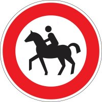 Verbot für Reiter - Verkehrszeichen für Deutschland, StVO, DIN 67520