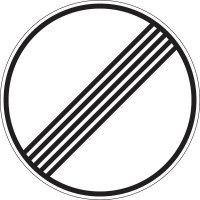 Ende sämtlicher Streckenverbote / Ende der zulässigen Höchstgeschwindigkeit - Verkehrszeichen für Deutschland, StVO, DIN 67520