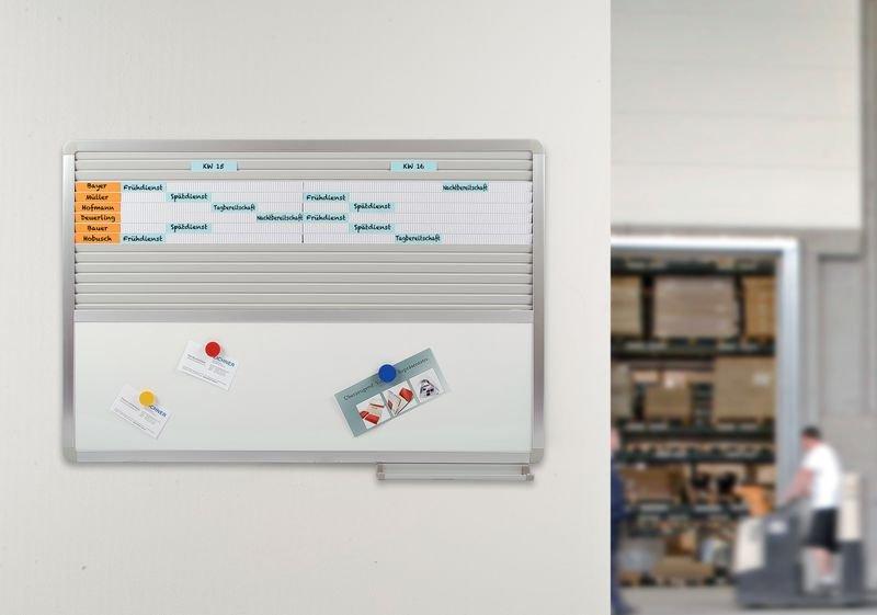 Einstecktafel mit Whiteboard - Universelle Planungstafeln mit Zubehör