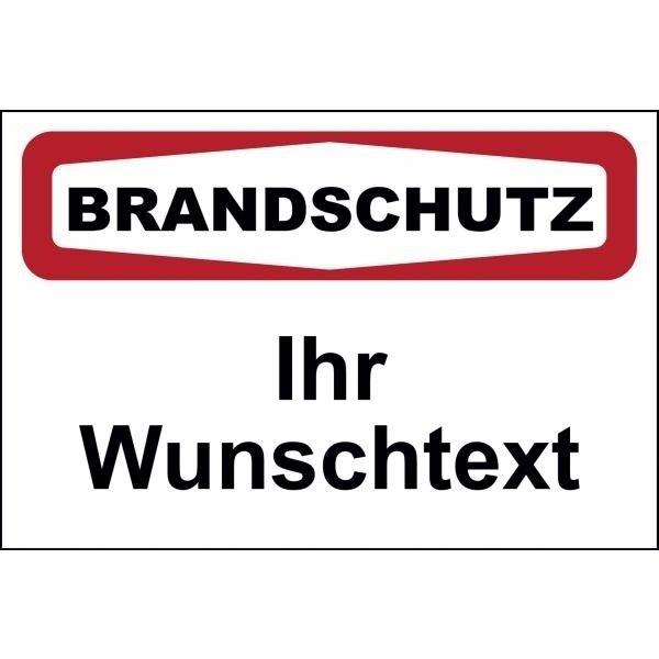 FOCUS Brandschutzschilder mit Text nach Wunsch, praxiserprobt